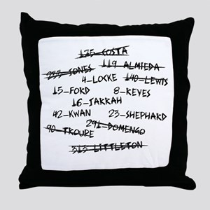 LOST Candidate Names and Numbers Throw Pillow