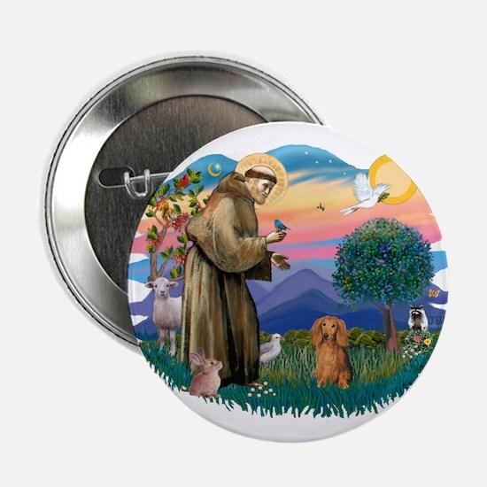 """St Francis #2/ Dachshund (LH S) 2.25"""" Button"""