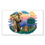 St Francis #2/ Dachshund (LH S) Sticker (Rectangle