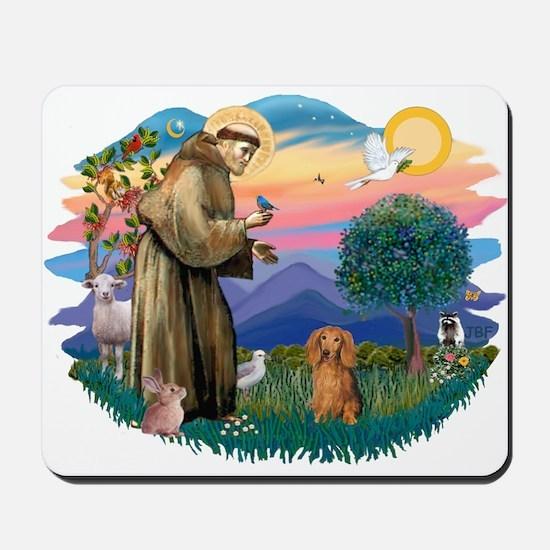 St Francis #2/ Dachshund (LH S) Mousepad
