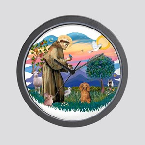 St Francis #2/ Dachshund (LH S) Wall Clock