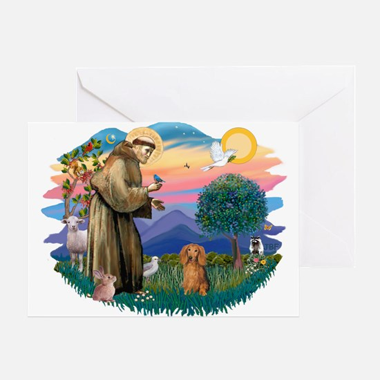 St Francis #2/ Dachshund (LH S) Greeting Card