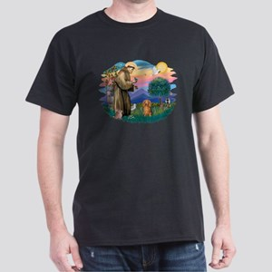 St Francis #2/ Dachshund (LH S) Dark T-Shirt