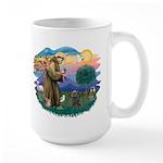 St Francis #2/ Cairn (br) Large Mug