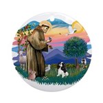 St Francis #2/ Cavalier (tri) Ornament (Round)