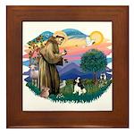 St Francis #2/ Cavalier (tri) Framed Tile