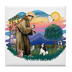 St Francis #2/ Cavalier (tri) Tile Coaster