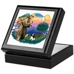 St Francis #2/ Cavalier (tri) Keepsake Box