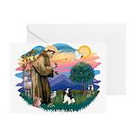 St Francis #2/ Cavalier (tri) Greeting Cards (Pk o