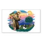 St Francis #2/ Cavalier (tri) Sticker (Rectangle)