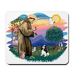 St Francis #2/ Cavalier (tri) Mousepad