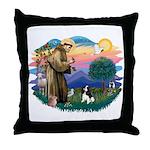 St Francis #2/ Cavalier (tri) Throw Pillow