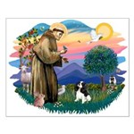 St Francis #2/ Cavalier (tri) Small Poster