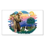 St Francis #2/ Cavalier (tri) Sticker (Rectangle 1