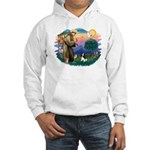 St Francis #2/ Cavalier (tri) Hooded Sweatshirt