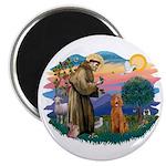 St Francis #2/ Poodle (Std C) Magnet