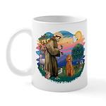 St Francis #2/ Poodle (Std-Ap) Mug