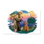 St Francis #2/ Poodle (Std-Ap) Mini Poster Print