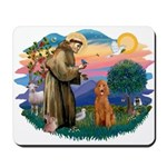 St Francis #2/ Poodle (Std-Ap) Mousepad
