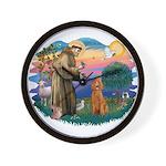 St Francis #2/ Poodle (Std-Ap) Wall Clock