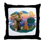 St Francis #2/ Poodle (Std-Ap) Throw Pillow