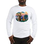 St Francis #2/ Poodle (Std-Ap) Long Sleeve T-Shirt