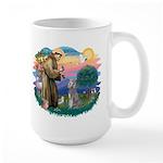 St Francis #2/ Poodle (Std S) Large Mug