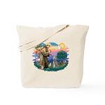 St Francis #2/ Poodle (Std S) Tote Bag