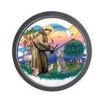 St Francis #2/ Poodle (Std S) Wall Clock