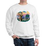 St Francis #2/ Poodle (Std S) Sweatshirt