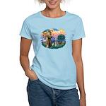 St Francis #2/ Poodle (Std S) Women's Light T-Shir