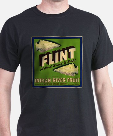Flint Fruit Crate Label T-Shirt
