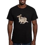 Patriotic JRT Vintage Men's Fitted T-Shirt (dark)