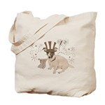 Patriotic Jack Russell with Flag (Vintage) on Tote
