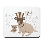 Patriotic Jack Russell with Flag (Vintage) on Mous