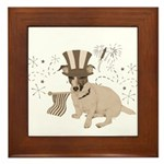 Patriotic Jack Russell with Flag (Vintage) on Fram