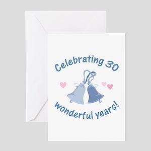 30th Anniversary Bells Greeting Card