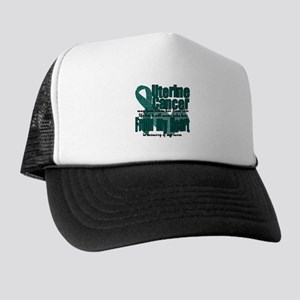 Mom Uterine Cancer Trucker Hat