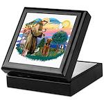 St Francis #2/ Airedale Keepsake Box