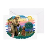 St Francis #2/ Airedale Greeting Card