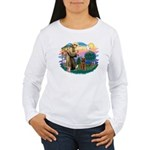 St Francis #2/ Airedale Women's Long Sleeve T-Shir