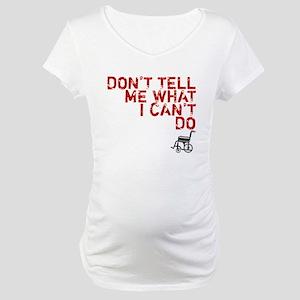 LOST Don't Tell Me John Locke Maternity T-Shirt