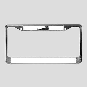 Black Cat License Plate Frame