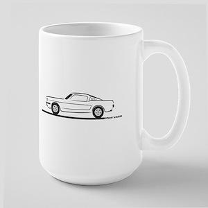 1965 Mustang Fastback Large Mug