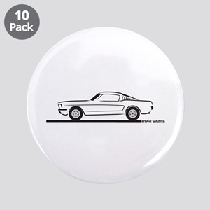 """1965 Mustang Fastback 3.5"""" Button (10 pack)"""