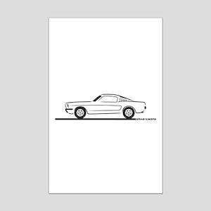 1965 Mustang Fastback Mini Poster Print