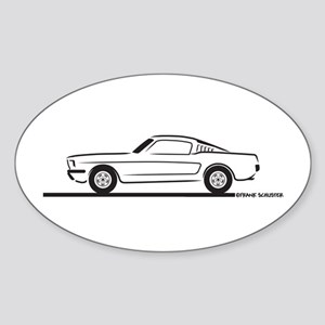 1965 Mustang Fastback Sticker (Oval)