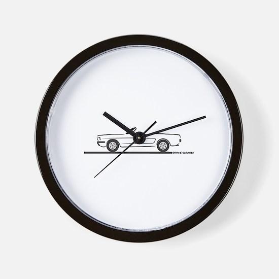 1965 Mustang Convertible Wall Clock