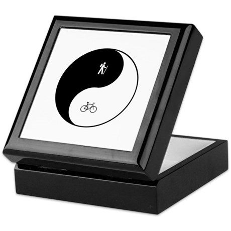 Hiking Biking Yin Yang Keepsake Box