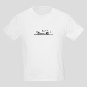 1969 Mustang Fastback Kids Light T-Shirt